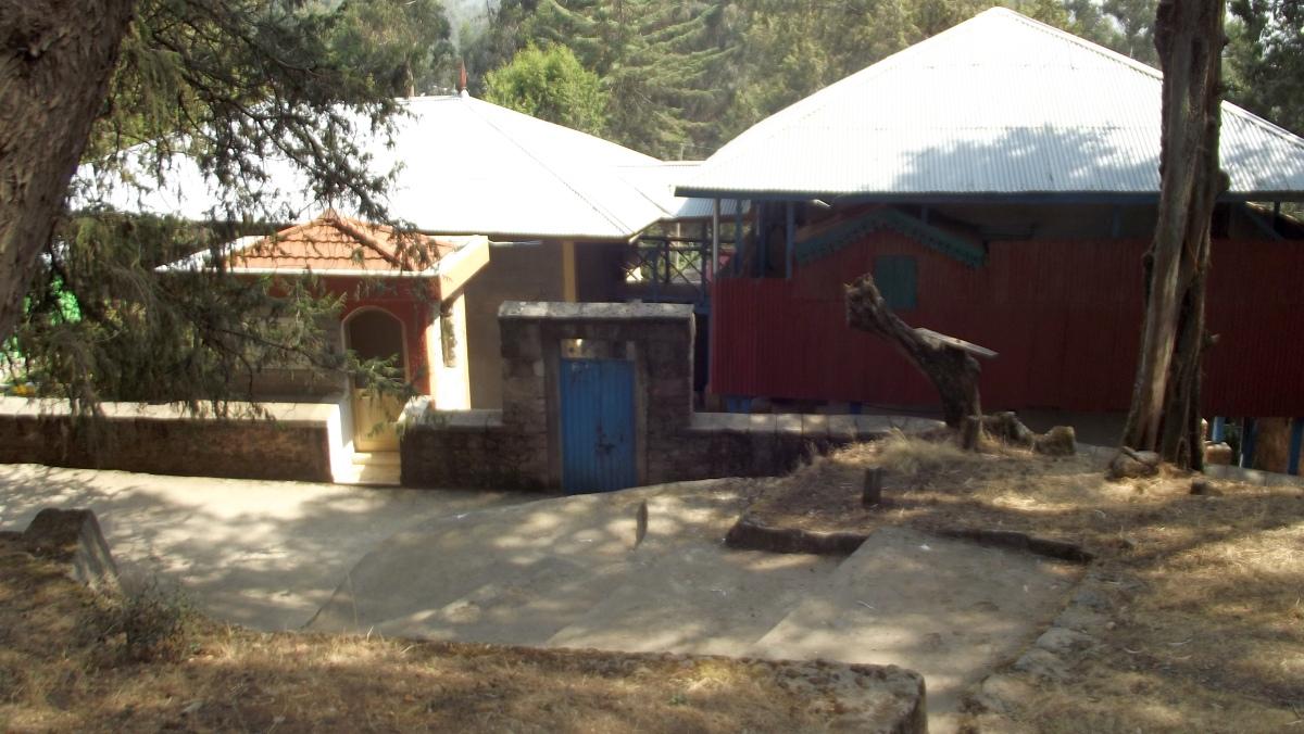 Le monastère St Maryam. Visite du Gebbi (Palais) de Ménélik II à Entoto Addis Abeba en Ethiopie.