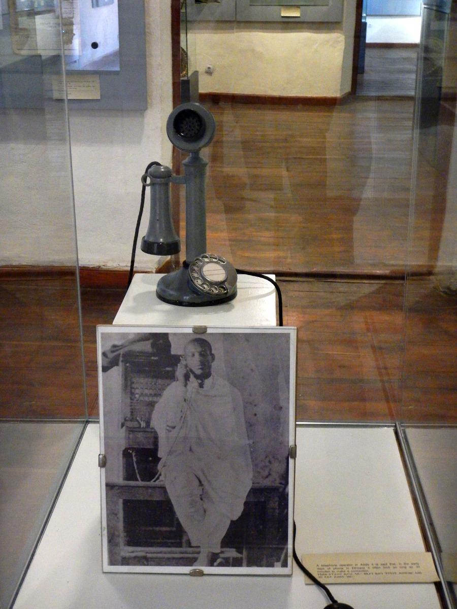 Téléphone de Ménélik II. Voyage Séjour Trekking et randonnée, Road trip en Ethiopie.  Région Amhara. Visite du Addis Abeba Muséum en Ethiopie.