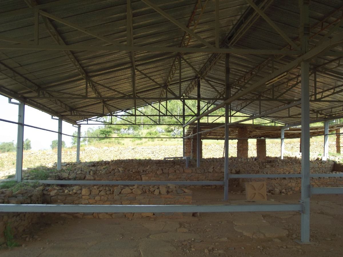 Les vestiges de la Nécrople qui était de forme pyramidale.