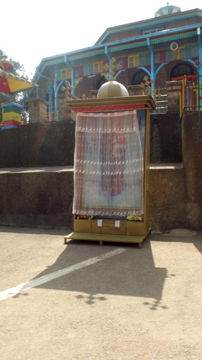 Visite de l'église Sainte Maryam d'Entoto d'Addis Abeba en Ethiopie.