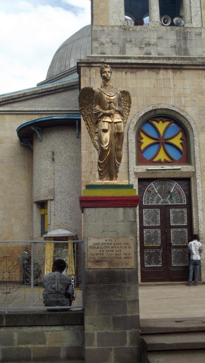 Visite de l'église Sainte Marie d'Addis Abeba en Ethiopie.