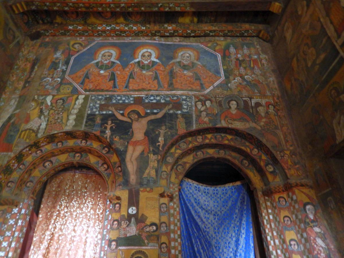 Holy Trinity. Voyage Séjour Road Trip Trek Trekking Randonnée en Ethiopie. Visite de Gondar en Ethiopie. L'Eglise Debre Birham Selassie de Gondar