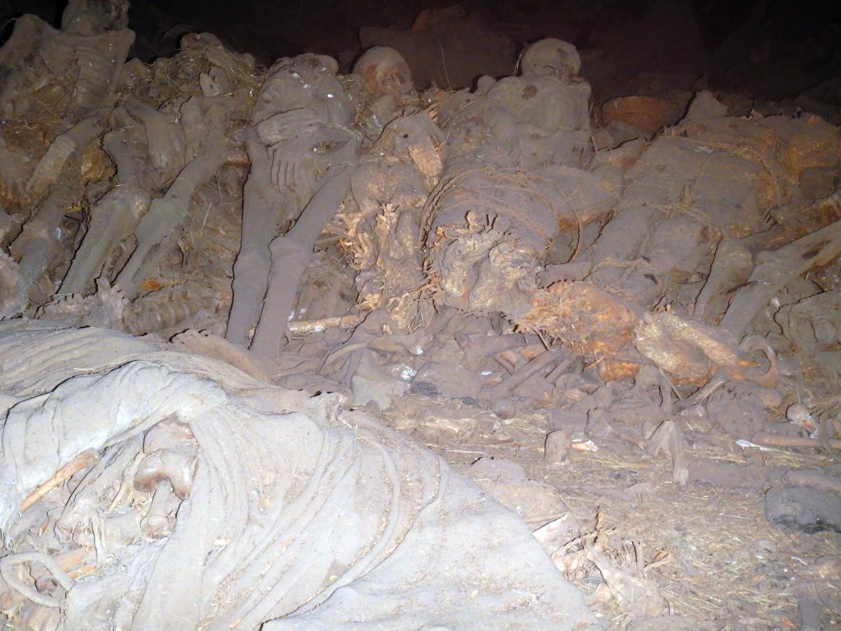 Les sépultures des saints pèlerins.
