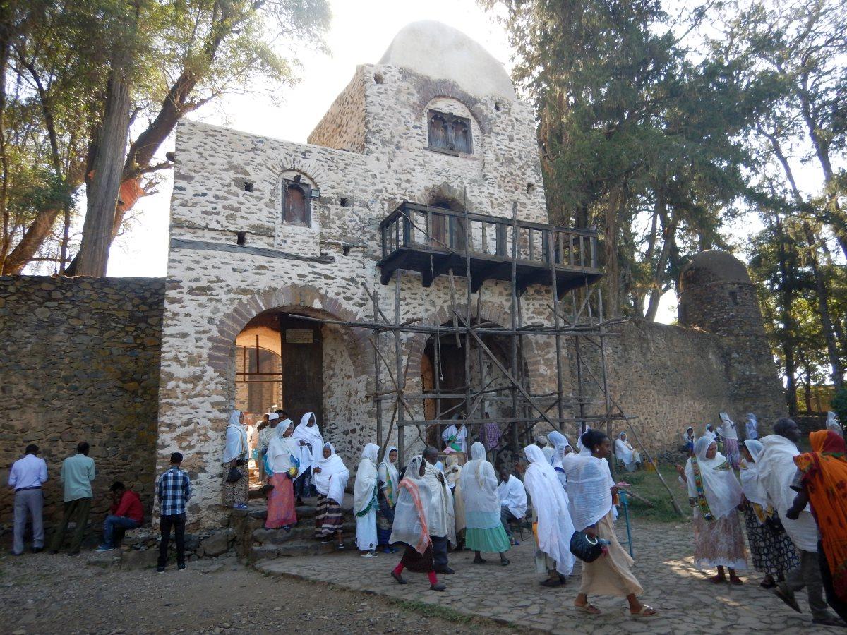 La Porte du ciel. Voyage Séjour Road Trip Trek Trekking Randonnée en Ethiopie. Visite de Gondar en Ethiopie. L'Eglise Debre Birham Selassie de Gondar