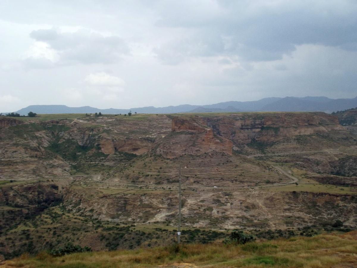 Vue du minaret de Dabra Damo. Visite, trek et randonnée à Debre Damo en Ethiopie.