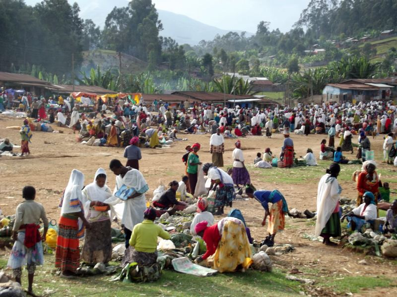 Voyage Séjour Trek Trekking Randonnée Road Trip en Ethiopie Visite de la Vallée de l'Omo en Ethiopie. La Ville de Dorze, Le Marché