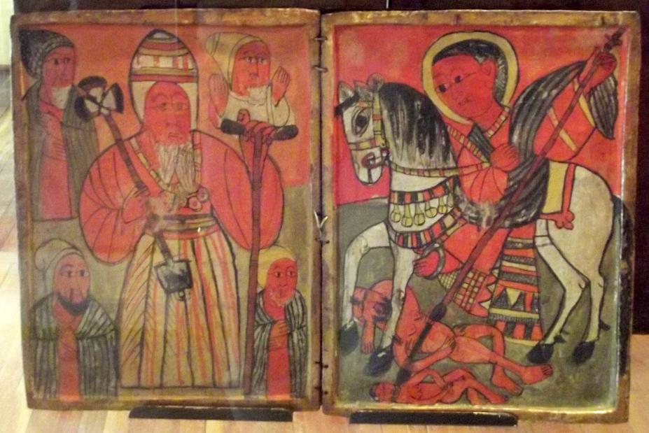 Peintures éthiopiennes sur bois appelées aussi Icônes. Mawuli-Ethiopie Art Ethiopien Artistes Peintres Association Plateforme Commerce Textile Café Epices Artisanat Ethiopien Solidaire Equitable en Ethiopie Made in Ethiopia