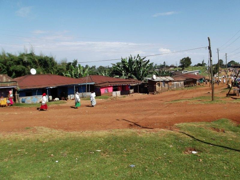 La rue principale de Dorze. Voyage Séjour Trek Trekking Randonnée Road Trip en Ethiopie Visite de la Vallée de l'Omo en Ethiopie la Ville de Dorze