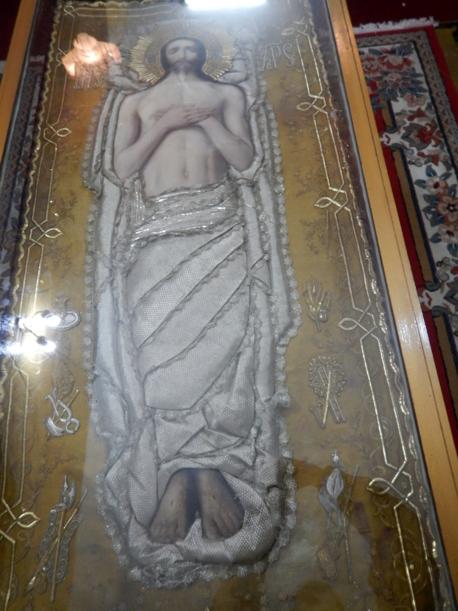 Relique de la tunique de Krystos. Visite du Mausolé de Ménélik II (Eglise Beta Maryam)  Addis Abeba en Ethiopie.