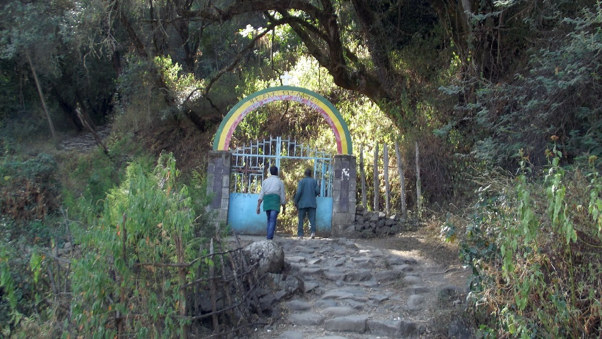 Voyage Séjour Road Trip Trek Trekking Randonnée en Ethiopie. Debre Libanos, La Grotte de Takla Haymanot