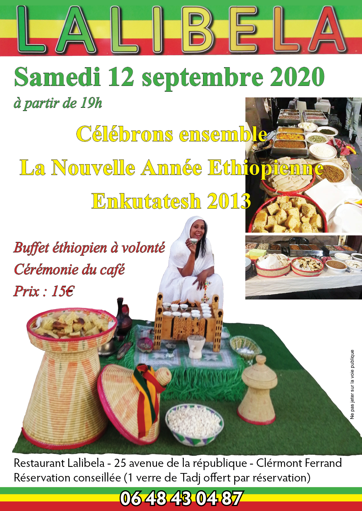 Lalibela Restaurant Ethiopien à Clermont Ferrand France 63000
