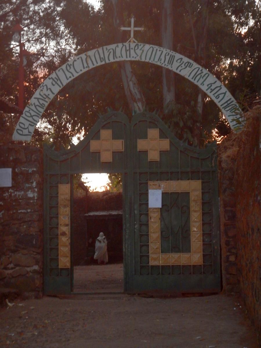 Une Eglise de Gondar.  Voyage Séjour Road Trip Trek Trekking Randonnée en Ethiopie. Gondar en Ethiopie, la ville et ses faubourgs
