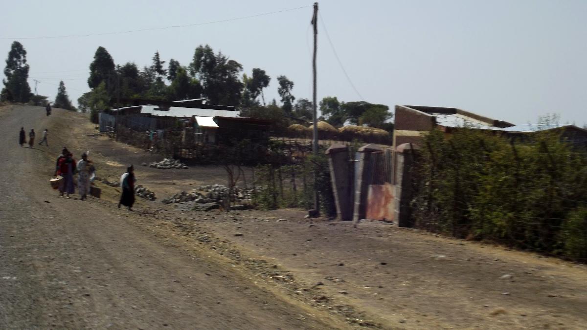 Arrivée au village d'Adadi. Voyage Séjour Trek et randonnée, Road trip et visite de la Région Oromia en Ethiopie.  Adadi.