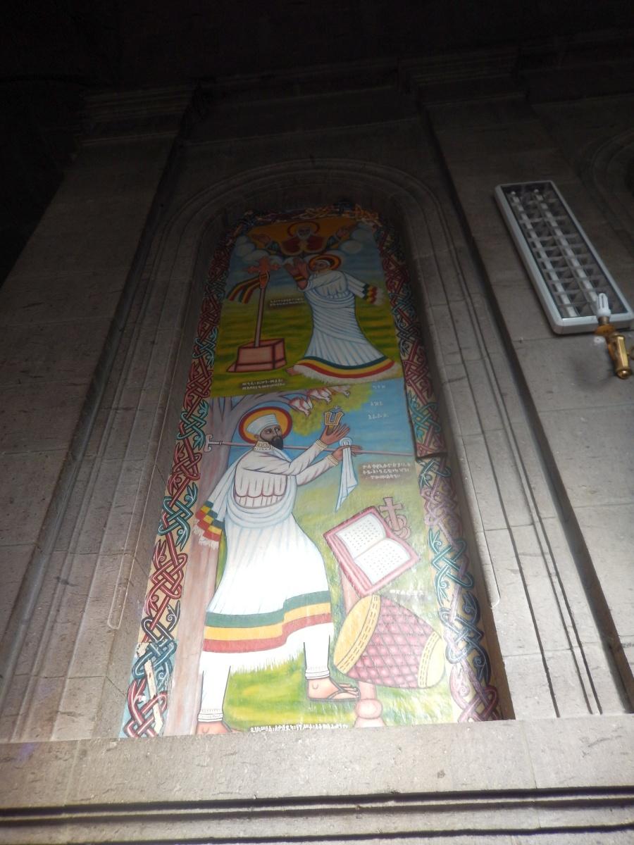 Saint Yerid le premier musicien. Visite de Addis Abeba, capitale de l'Ethiopie. Voyage Séjour Trekking et randonnée, Road trip en Ethiopie.  Région Amhara.