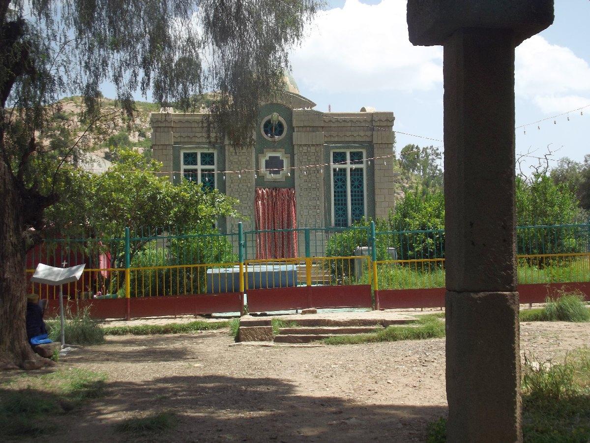 La Chapelle de l'Arche de l'Alliance. Trek, randonnée et visite d'Axum en Ethiopie.