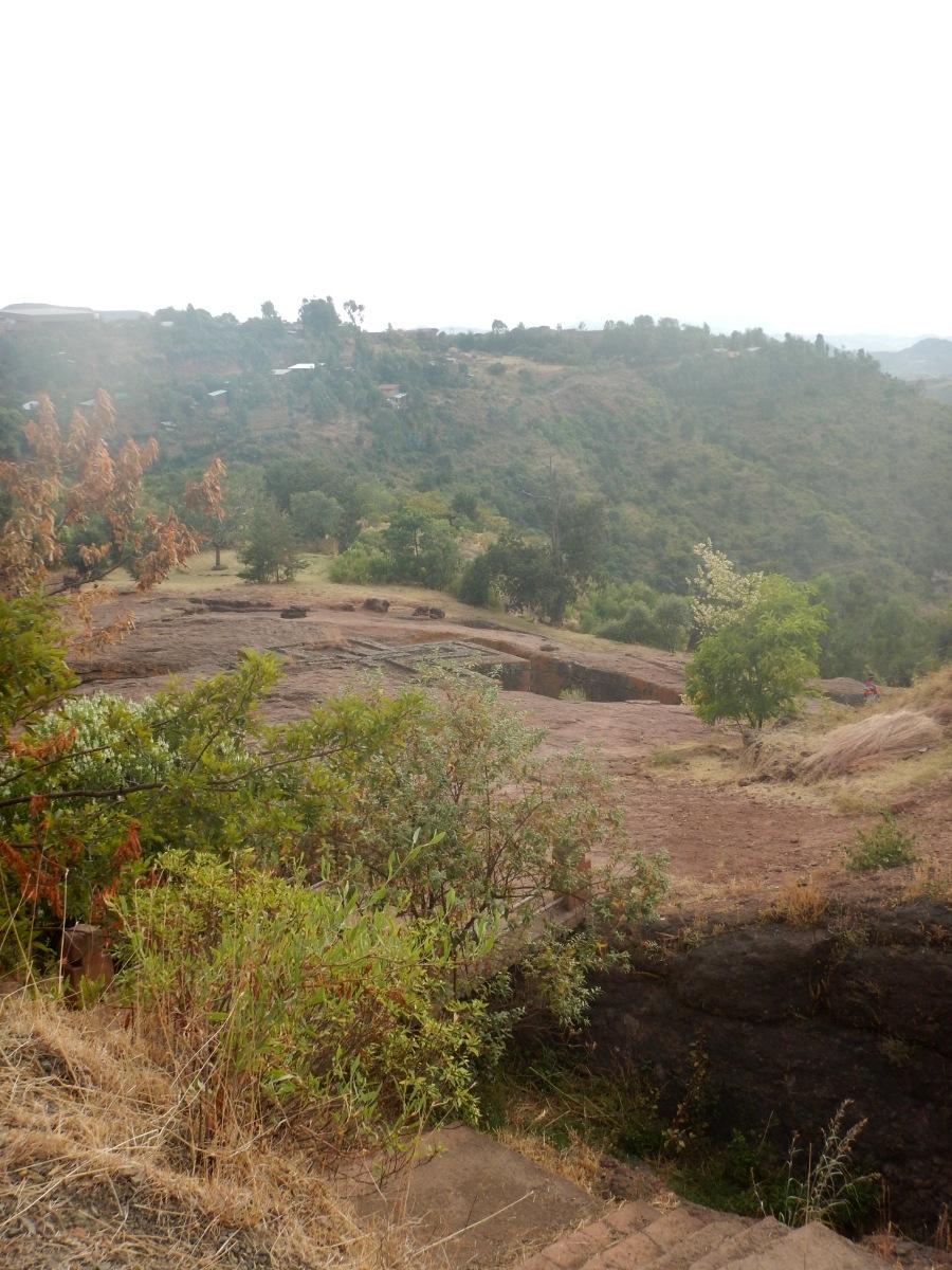 Visite de l'église St Georges /  Beta Ghiorgis de Lalibela en Ethiopie  Trek à  Lalibela Voyage Séjour Trekking Randonnée Road Trip en Ethiopie.