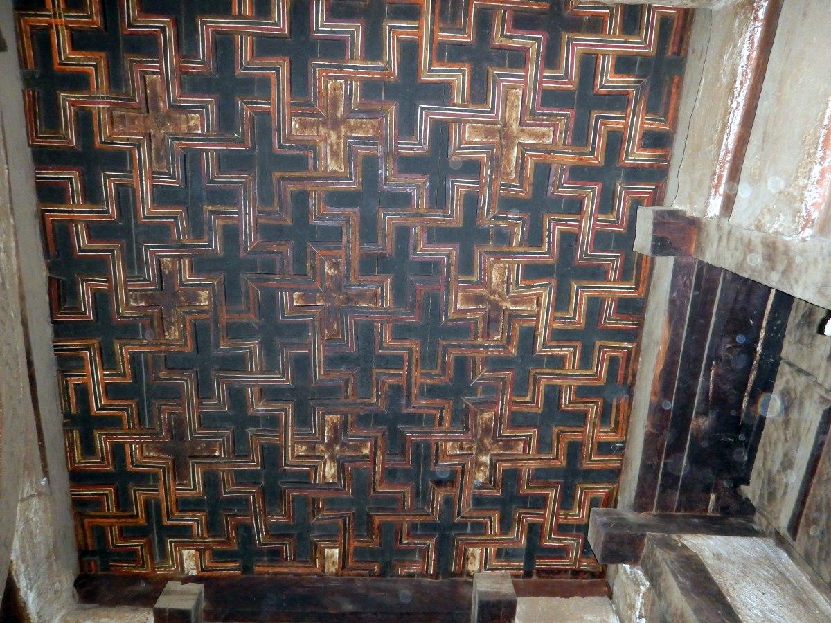 Le Plafond de l'église Yemrehanna Krystos
