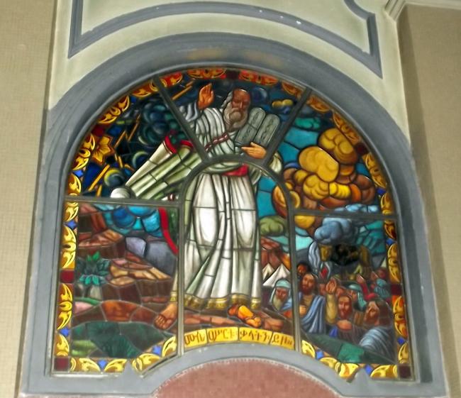 Visite de l'église Sainte Trinité d'Addis Abeba en Ethiopie.
