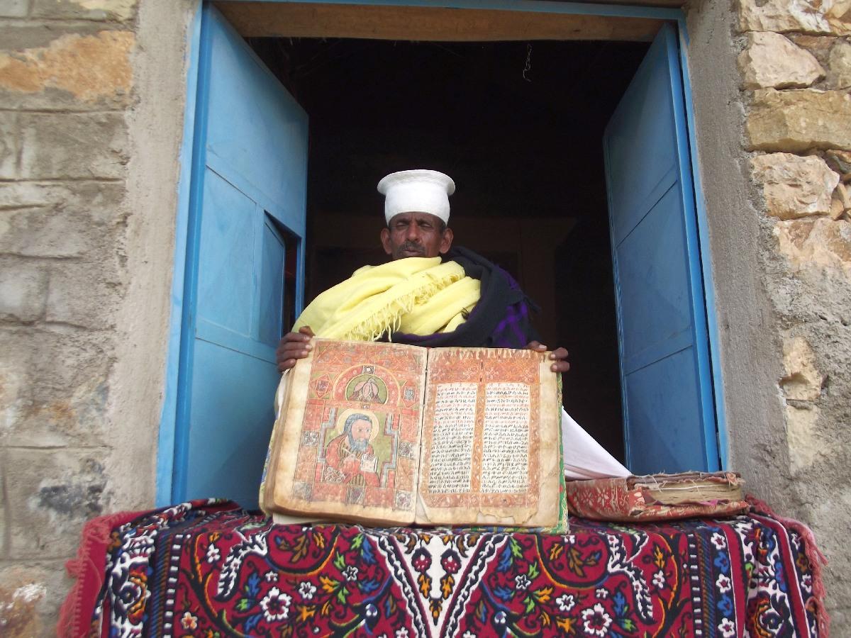 Trek, randonnée et visite d'Axum en Ethiopie. Autour d'Axum. Le monastère St Pantalewon