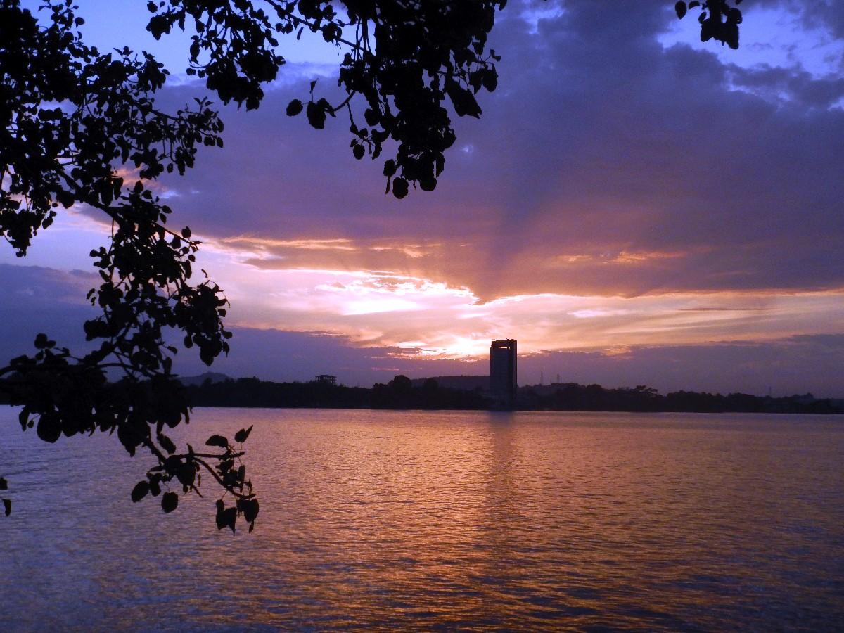 Couché de soleil sur le Lac Tana en Ethiopie