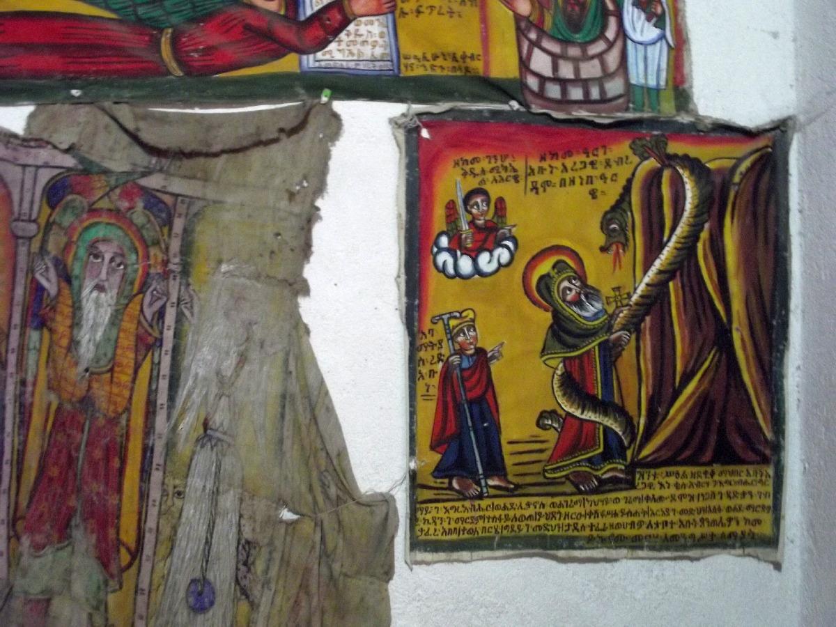L'Histoire de St Abba Aregawi à Debre Damo. Trek, randonnée et visite d'Axum en Ethiopie. Autour d'Axum. Le monastère St Pantalewon