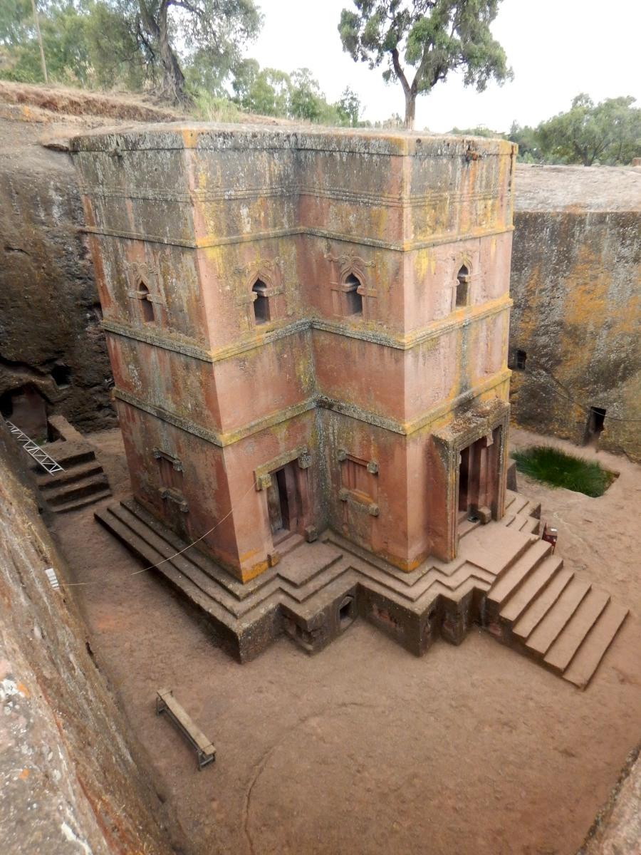 Visite de l'église St Georges /  Beta Ghiorgis de Lalibela en Ethiopi Trek à  Lalibela Voyage Séjour Trekking Randonnée Road Trip en Ethiopie.