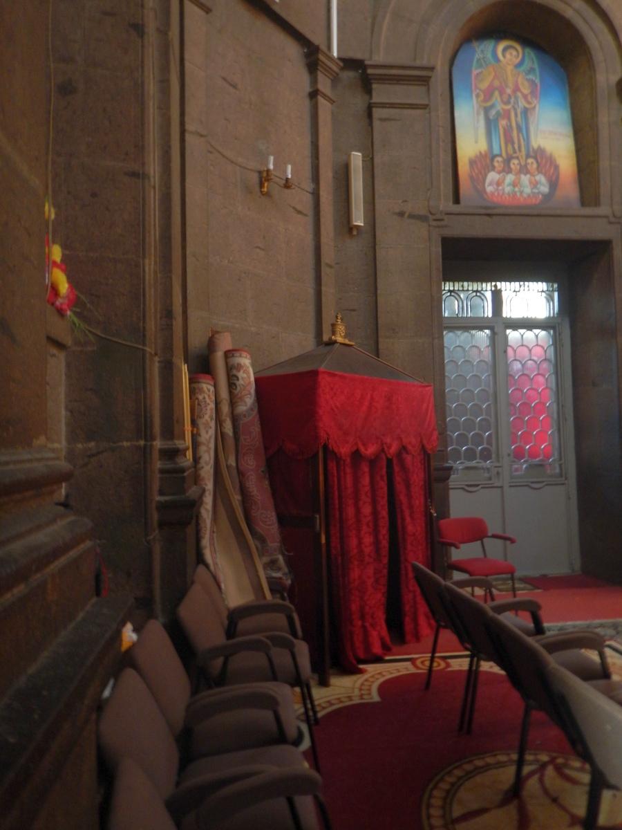 Visite du Mausolé de Ménélik II (Eglise Beta Maryam) Visite de Addis Abeba, capitale de l'Ethiopie. Voyage Séjour Trekking et randonnée, Road trip en Ethiopie.  Région Amhara.
