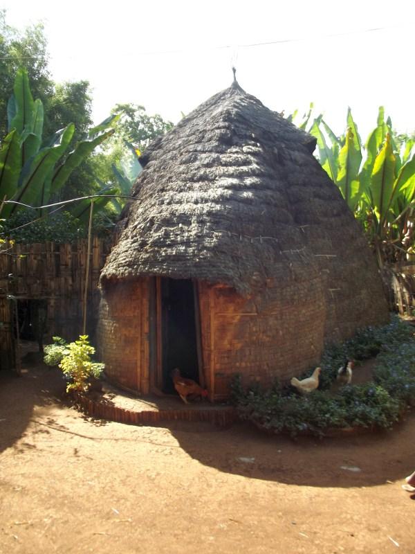 Voyage Séjour Trek Trekking Randonnée Road Trip en Ethiopie Visite de la Vallée de l'Omo en Ethiopie. La Ville de Dorze, La Maison Éléphant.