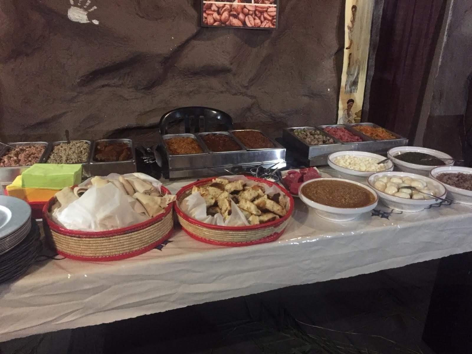 Le buffet du Restaurant éthiopien Lalibela à Clermont Ferrand 63000 France