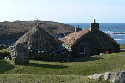Häuser auf der Isle of Lewis