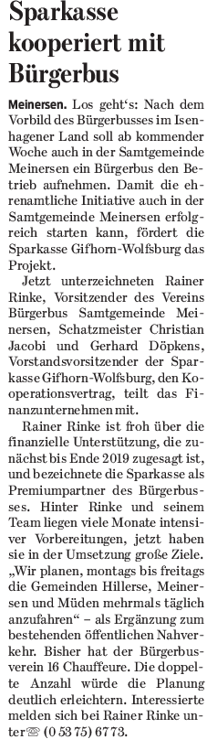 Gifhorner Rundschau vom 21.10.2017
