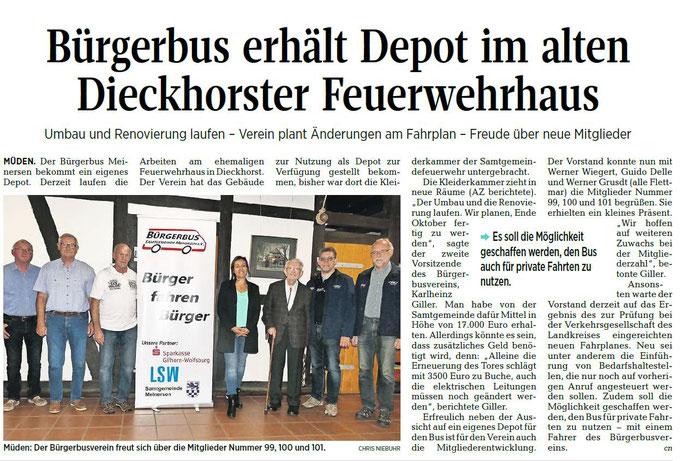 Aller-Zeitung vom 19.9.2018