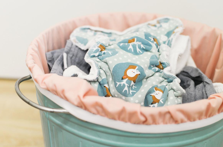Stoffwindeln richtig waschen Teil 1: aufbewahren und vorbehandeln
