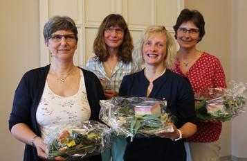 vlnr. Inge Wiedekamp, Anja Mahlstedt, Anke Thordsen und Britta Hamdorf