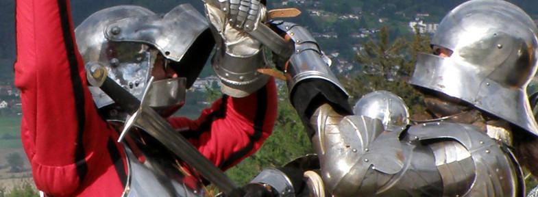 Wolfgang in action mit dem Schwert