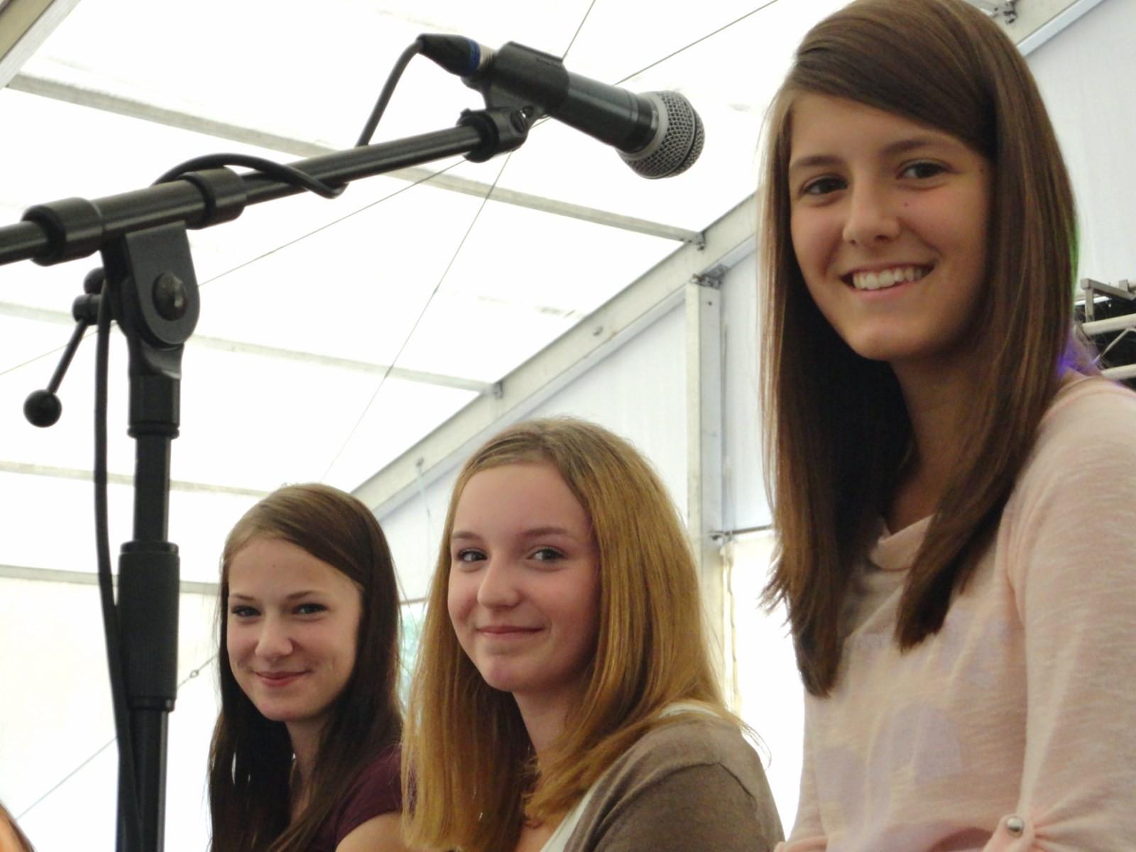Unsere Flötistinnen Lisa, Denise und Viki.