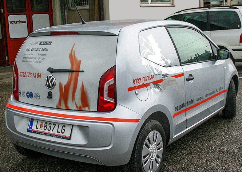 KFZ Beschriftung TOPSTUDIO Linz