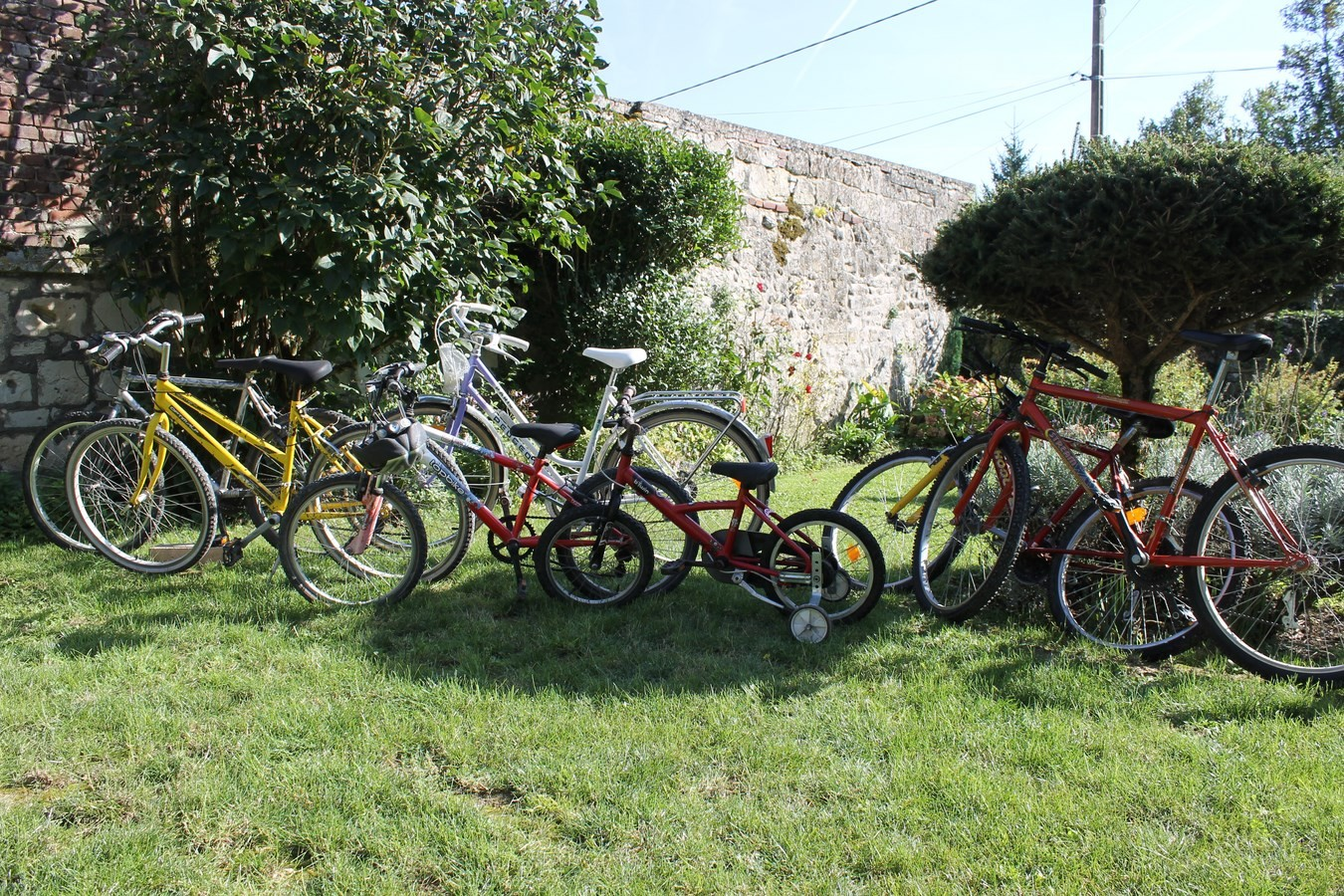 préts de 6 vélos petits et grand.