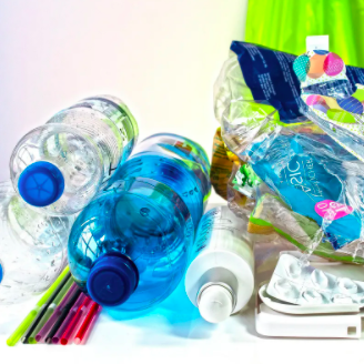 We will combine waste products like plastic and glass bottles...
