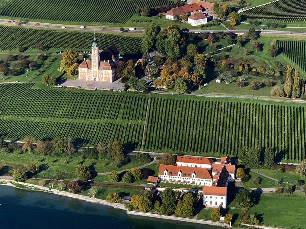 Birnau mit Klostergebäude Maurach, 12 km entfernt
