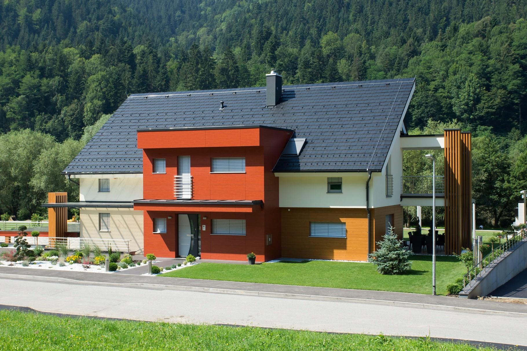 Villas en ossature bois diagonal swiss for Villa ossature bois