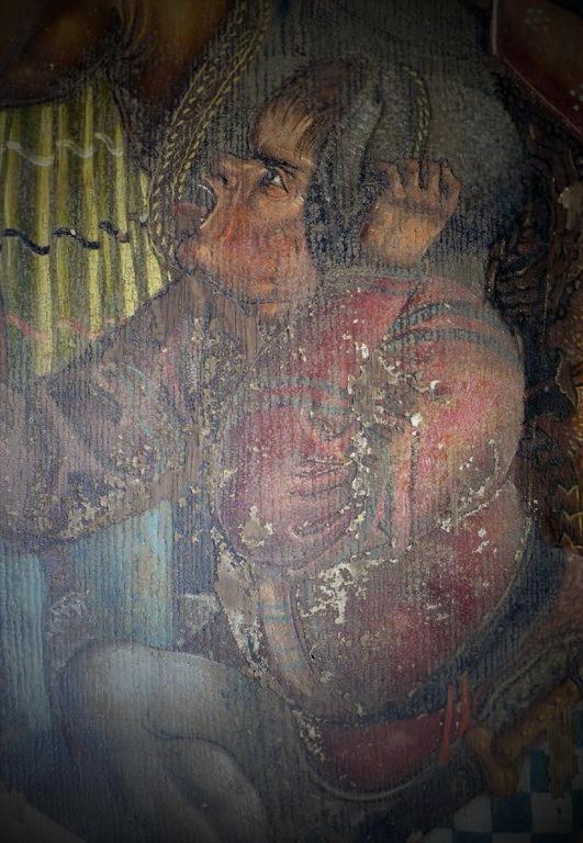 Vorzustand Malerei Werktagsseite, Marienaltar (1519), Nonnenempore Kloster Wienhausen