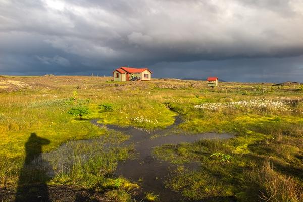 Die Hütte von Þverbrekknamúli