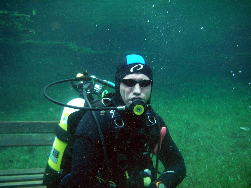 Rast auf der Unterwasserbank