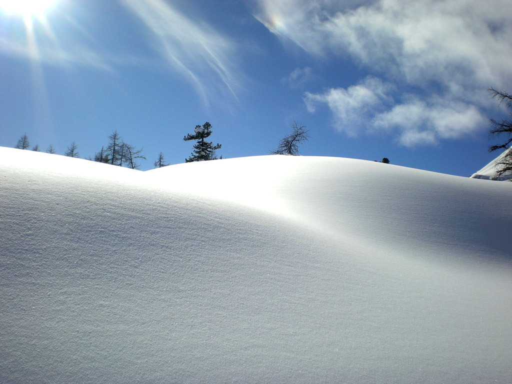 Landschaftsfoto bim Skilauf (Wurzeralm 28.02.09)