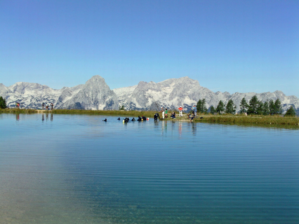 Der Tauchgang im See