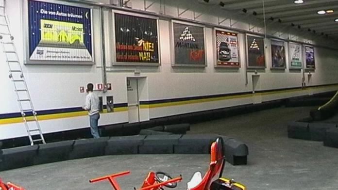 Prismenwender Montana Go-Kart Racing Halle in Ahrntal Südtirol: 7 synchrone Anlagen