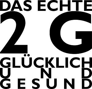Dieses Bild von Thorsten Hülsberg zeigt das FAIRschreiben-dÜsign Resist 2.14 und zu lesen ist: DAS ECHTE 2G GLÜCKLICH UND GESUND.