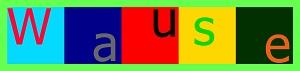 Vielfarbiges Wause-Logo