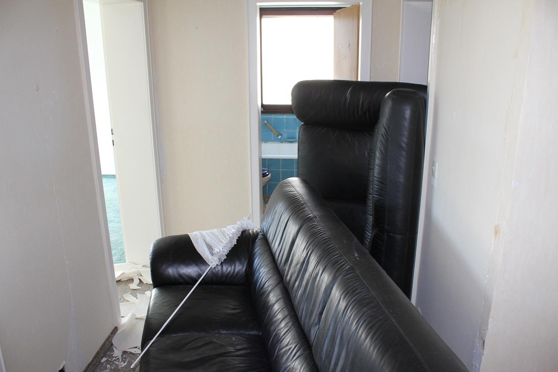 … dann kamen auch schon die Möbel :-)